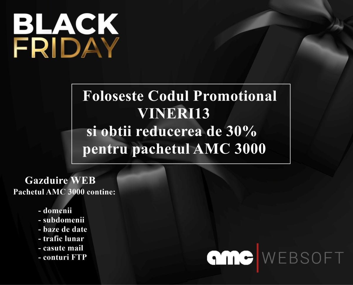 Black friday! 30% reducere web hosting