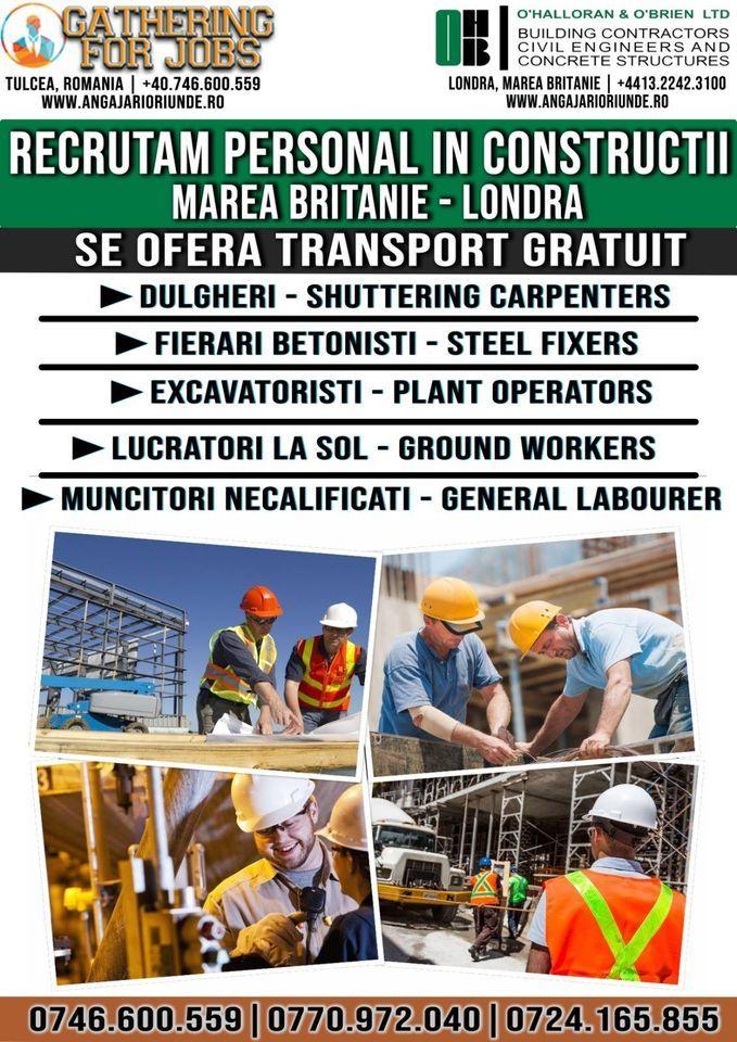 Recrutam dulgheri-fierari betonisti-excavatoristi