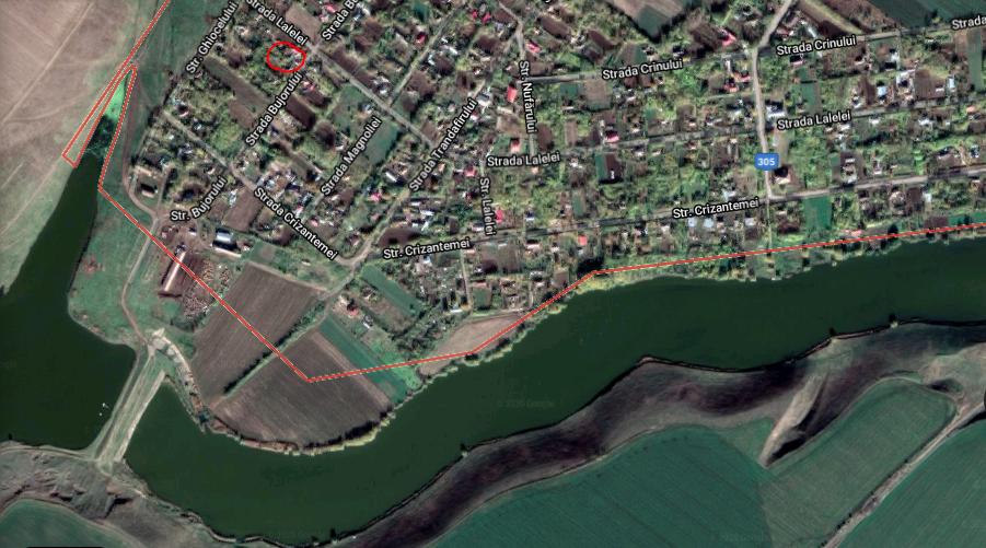 Teren+casă,1900 mp, sat fântana doamnei, călărași