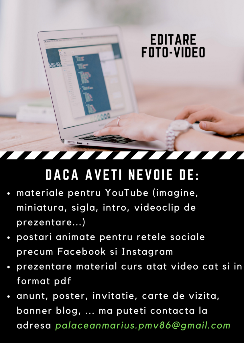 Prestez servicii de editare foto-video