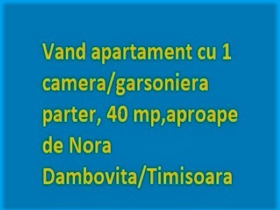Vand apartament cu o camera