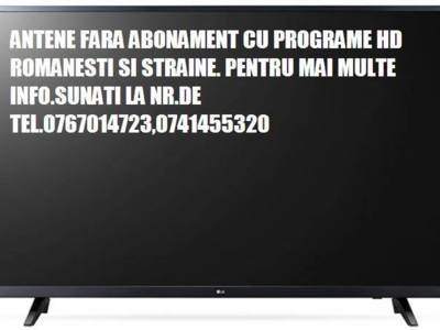 Antene tv si radio fara abonament 0767014723