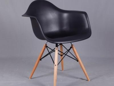 Scaun bucatarie plastic cu picioare din lemn ex082
