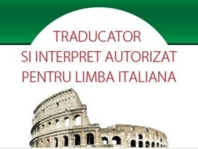 Traducator/interpret lb. italiana autorizat