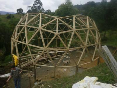 Structura casa tip dom 10,3m diametrul