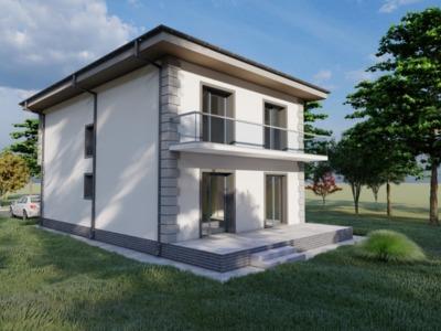 Vila 4 camere, dezvoltator, asfalt, breazu