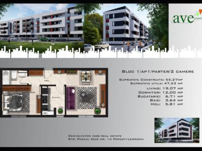 Apartament 2 camere sos oltenitei, bloc finalizat