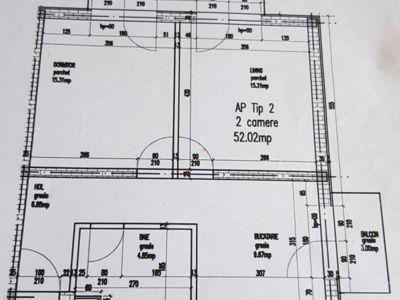 Vand apartament floresti zona porii 51mp 55 000 €