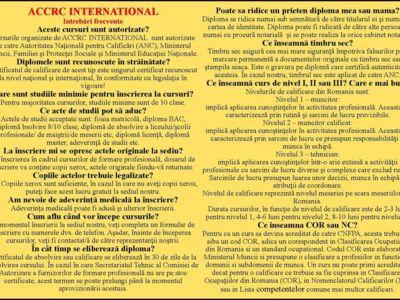 Cursuri acreditate! www.accrcinternational.com!