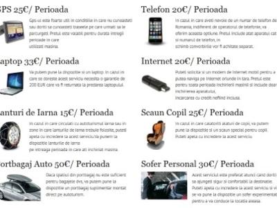 Servicii/dotari extra oferite de trax rent a car