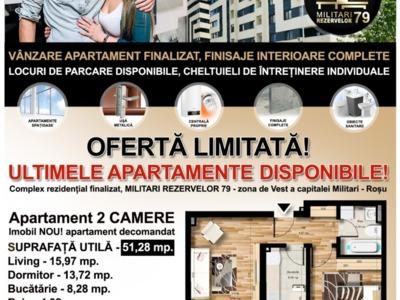 Apartament cu 2 camere , de vanzare , chiajna .
