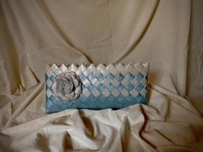 Geanta plic din hartie,handmade,unicat