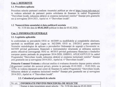 Nr.3436/20.02.2020   raport selecŢie parteneri