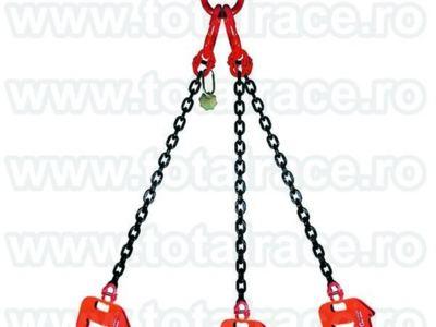 Lanturi cu 3 ramuri si clesti ridicat tuburi