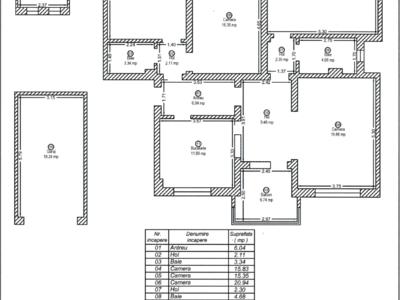 Apartament 4 camere platanilor