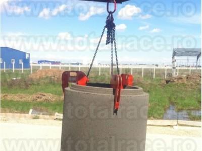 Clesti tuburi beton, cleste de ridicare