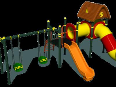 Tobogan spirala/ansamblu de joaca/complex de joaca