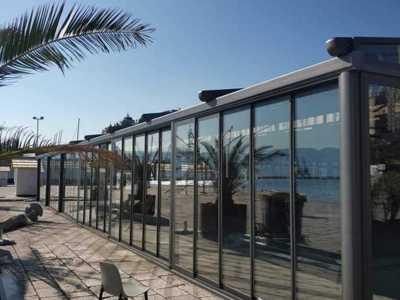 Inchideri pentru terase: sticla glisanta manuala