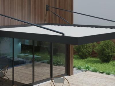 Pergola retractabilă model urban, pentru terase