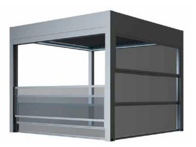 Sticla electrica pentru terasa - pergole de lux