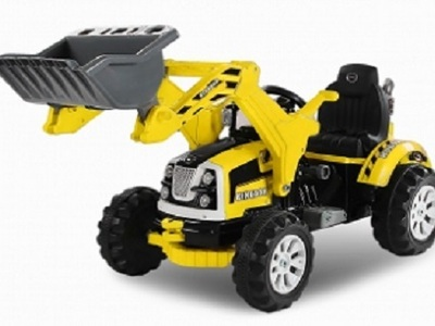 Excavator electric pentru copii bulldozer galben
