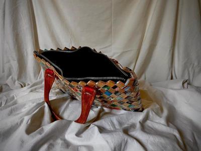 Geanta hartie , handmade,unicat ,cu manere