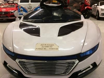 Mașină electrică pentru copii ad r-coupe alb nou