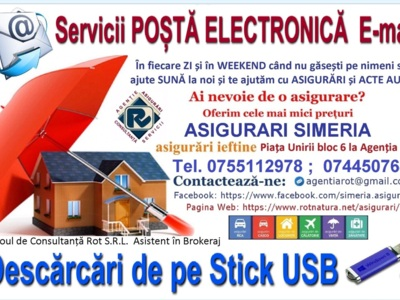 Servicii posta electronica email agentia rot