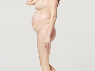 Chilot tanga pentru gravide bej noppies