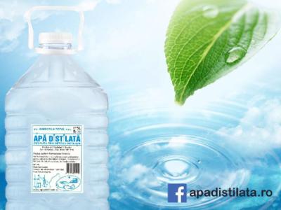 Apa distilata ( obținută prin metoda distilării )