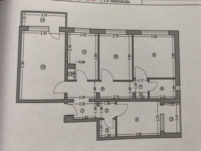 Apartament cf.1, 4 camere, aurora, ploiesti