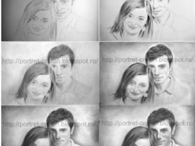 Portrete/Caricaturi In Creion dupa Fotografie